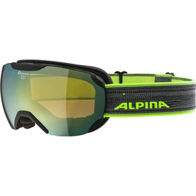 Alpina Pheos S MM Goggles, black matt gold spherical
